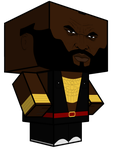 Mr T Cubecraft 3D-model by JagaMen