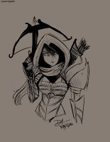 Diablo 3 - Demon Hunter Manga Style by DragonZ911