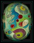oldpaintingrevisited abstract groovy egg by santosam81