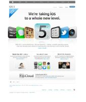 Layout Website Apple iOs5 by kiattikun