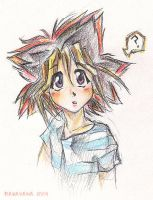 pencilcrayon fun with Yugi by LuelExAna