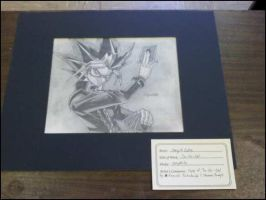 YuGiOh sketch matted by xMystery21x