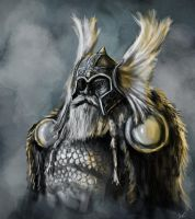 Quick Portrait of Odin by BABAGANOOSH99