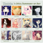 2014 Summary of art by TheAvies