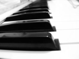 Piano keys by RaduIoan
