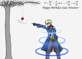 ++Happy bday Sir Isaac Newton++ by CrimsonValefor