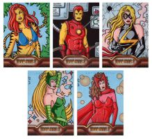 Iron Man 2 Sketch Cards 3 by ElainePerna