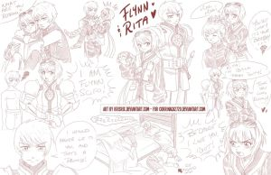 Comm. for Corrinaca2720 - Flynn + Rita Sketchdump by KrisRix