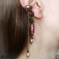 Romantic bronze ear cuff by AmeliaLune
