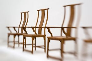 chairs in a row by miclart