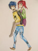 Piggyback time!! by MoonSnake12