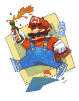 Beer Mario by Sidxartxa