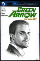 GREEN ARROW Sketch Cover by S-von-P