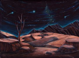 Desert at Night by Stitchy-Face