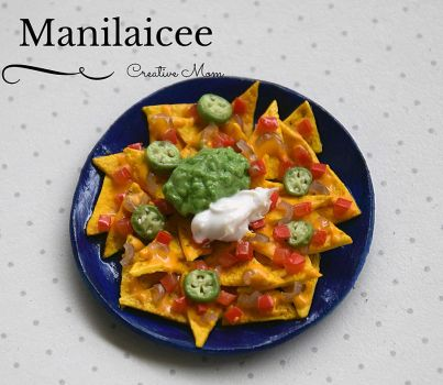 Miniature nachos Mexican food by Manilaicee