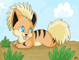 Growlithe by Pure-Heart-Latios