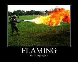 Flaming Motivator by Comrade-D