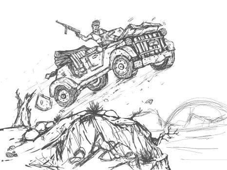 Jeep Action Scene by Gears24