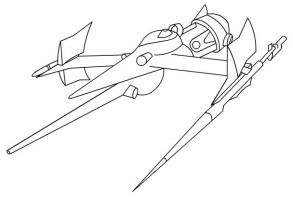 Spikes Ship outline by goaferboy