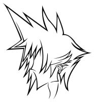 Cloud Strife...stencil? redone by demondeathx