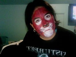 cat/loin face paint by WerewolfProtecter