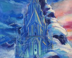 Frozen Castle by danidraws