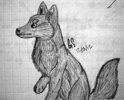Sketch -Wolf III by graciegra