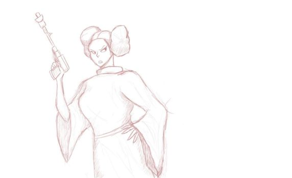Leia inadvertantly chubby by Hekotat