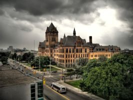 Old Main at Wayne State by Cruzweb