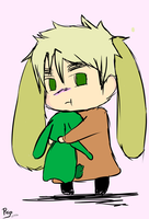 Arthur with his Flying Mint Bunny by ScarletxofxthexEast