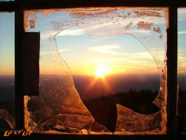 Sun Through a broken window by Lifeflip