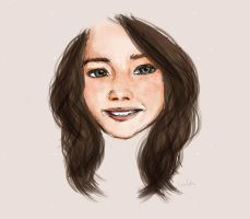 Smiling girl 2 by Linheha