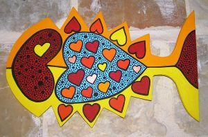 heart fish by Evilpainter