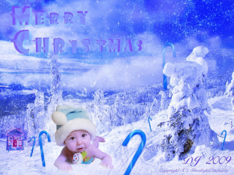 Blue Snow White Christmas by starlight2infinity