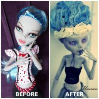 Muse OOAK MH Ghoulia by UnsrawJaws
