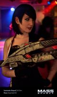 Commander Shepard Cosplay 2 - Afterlife Club by Evil-Siren