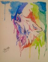 Wolf - Watercolor by adiga45