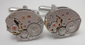 Steampunk Seiko Cufflinks by SteamDesigns