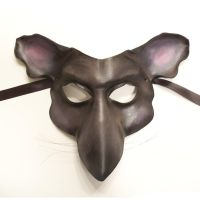Mouse or Rat Leather Mask dark grey by teonova