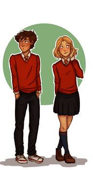 12 years old Sam and Ivy by RiTTa1310
