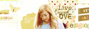 Taeyeon [sign] by lisababier