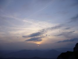 sunset on Ceahlau Mountain by mytyk