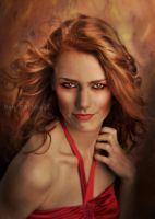 Portrait of a Fire Sprite by raemarshall