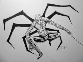 MAN SPIDER!!! by PackRatTheArtist