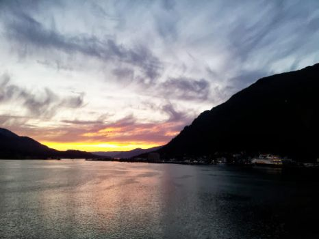 Sunset Over Juneau by Taffybear