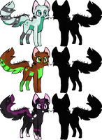 3 Breedable cats OPEN by DinowAdopts