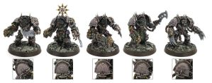 Slaanesh Terminator squad by daouide
