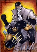 Wolvie Fantomex PSC by Foreman by chris-foreman