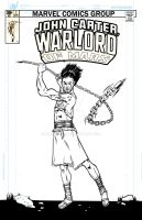 John Carter, Warlord of Mars cover by mad-flavor