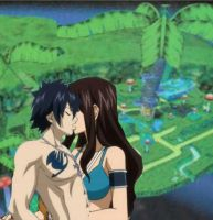 Kana and Grey kisse in Pianta Village by ElodieTheFox051400